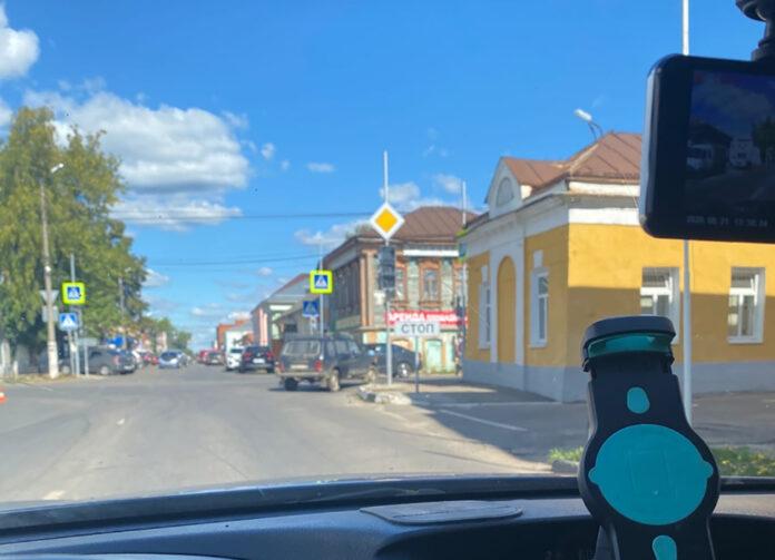 новый светофор в Коломне