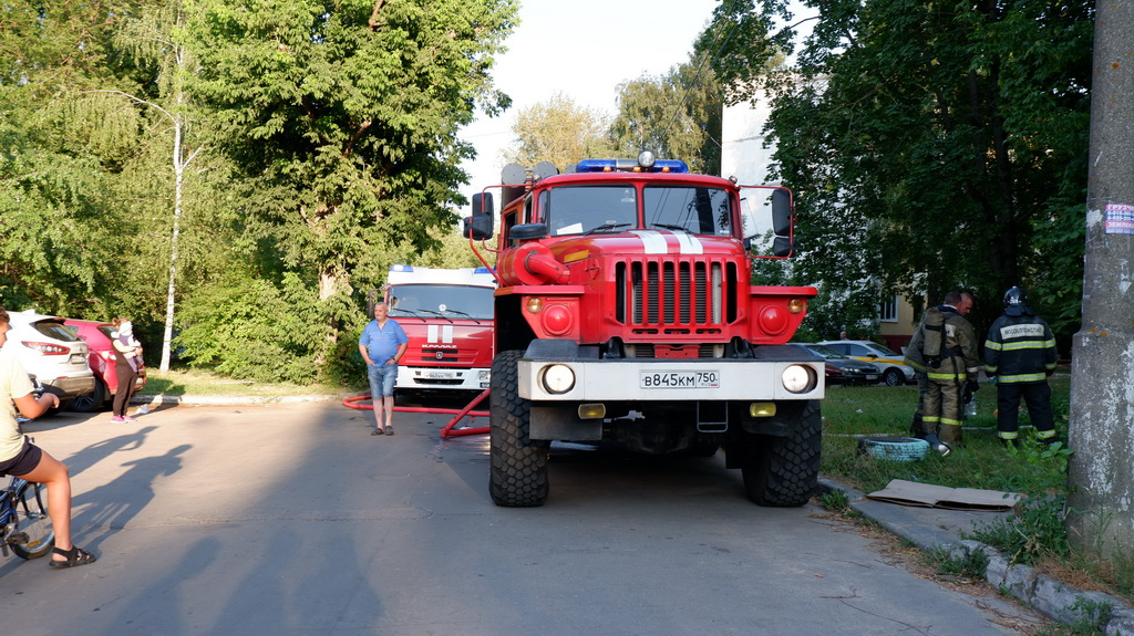 пожар Коломна ул. Ленина
