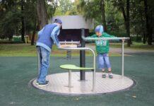 детский игровой комплекс в парке Мира